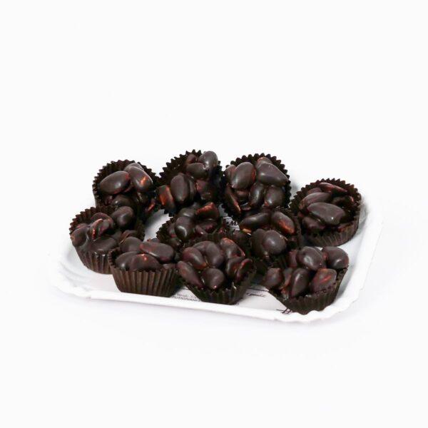 pirottini con mandorle e cioccolato fondente